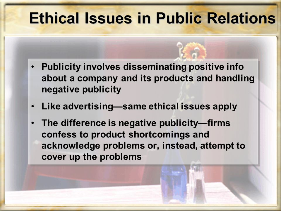 Ethical Issues in Public Relations