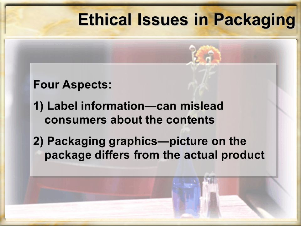 Ethical Issues in Packaging