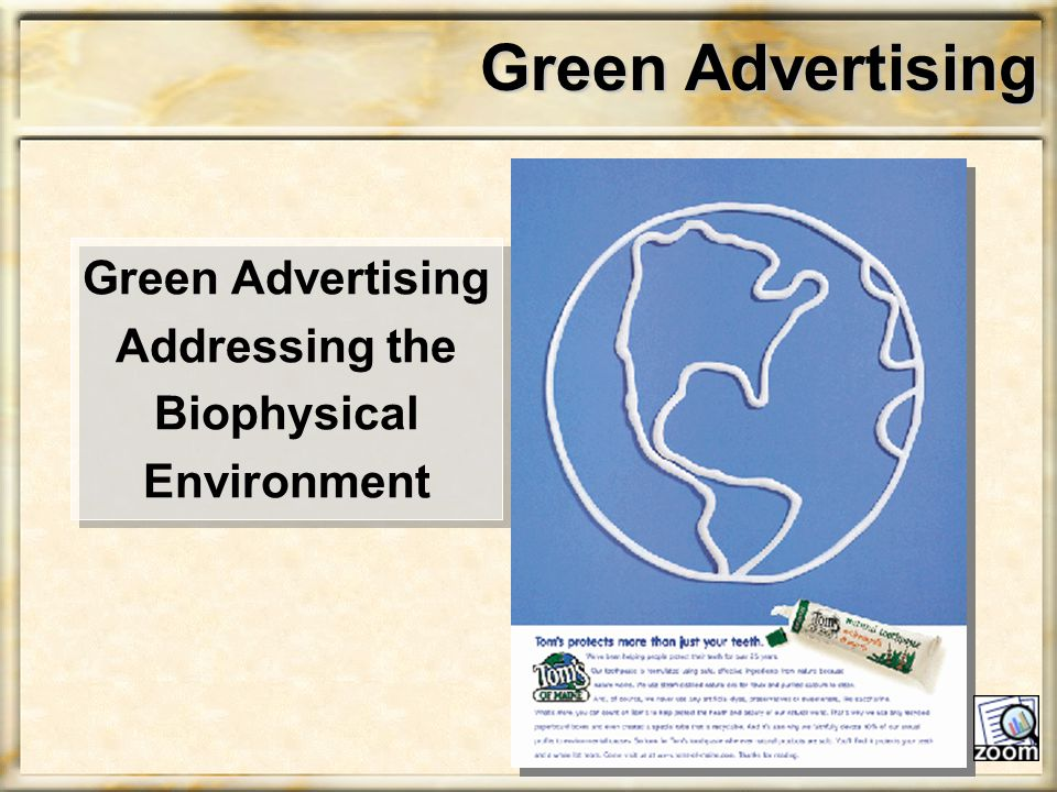 Green Advertising Green Advertising Addressing the Biophysical