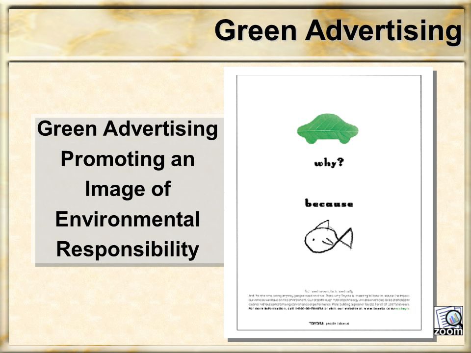 Green Advertising Green Advertising Promoting an Image of