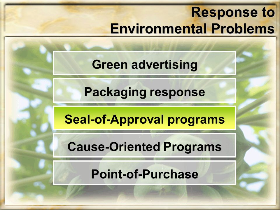 Response to Environmental Problems