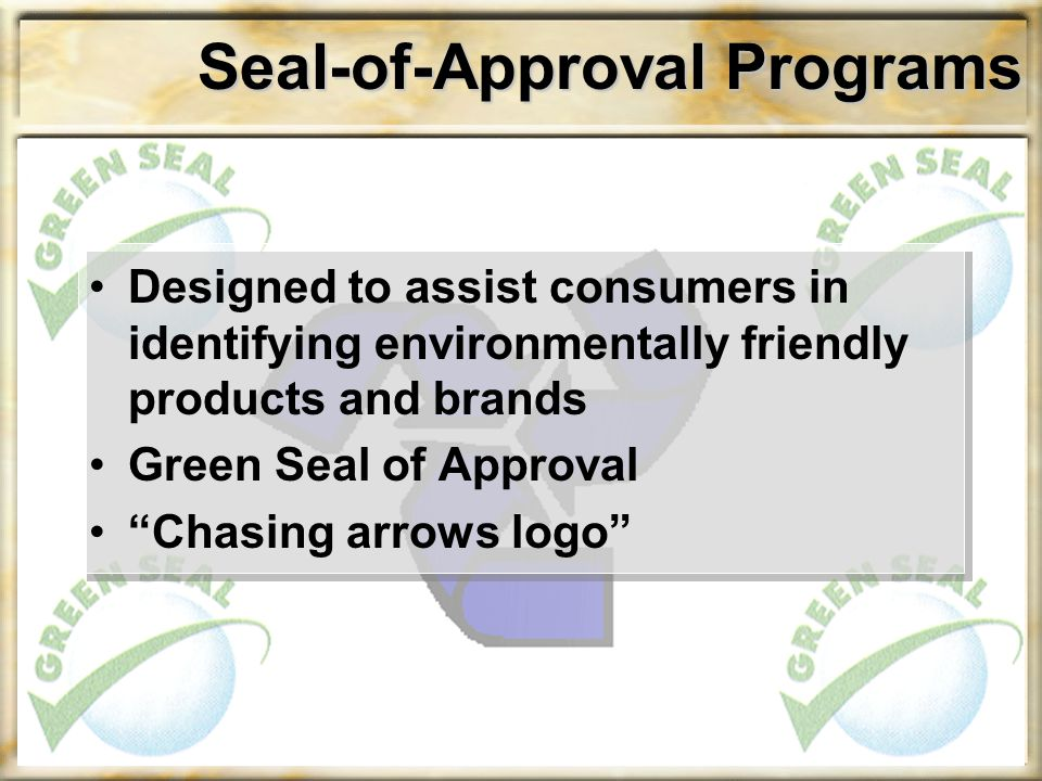 Seal-of-Approval Programs