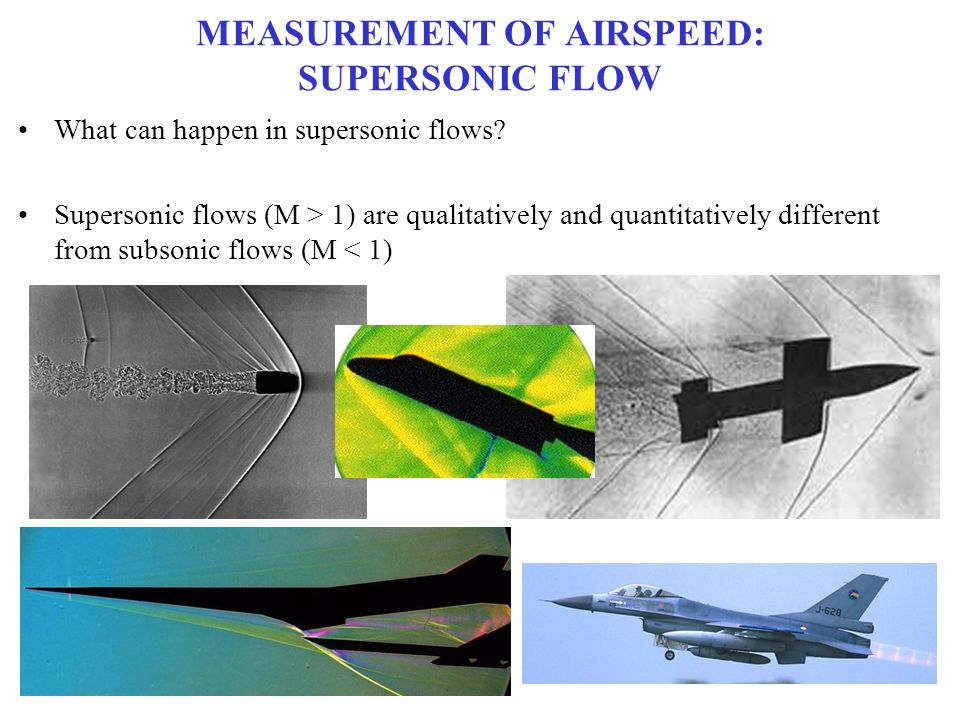 MEASUREMENT OF AIRSPEED: SUPERSONIC FLOW
