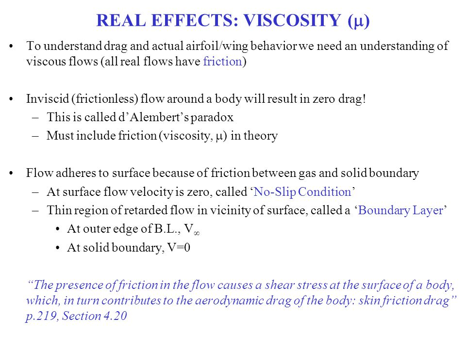 REAL EFFECTS: VISCOSITY (m)