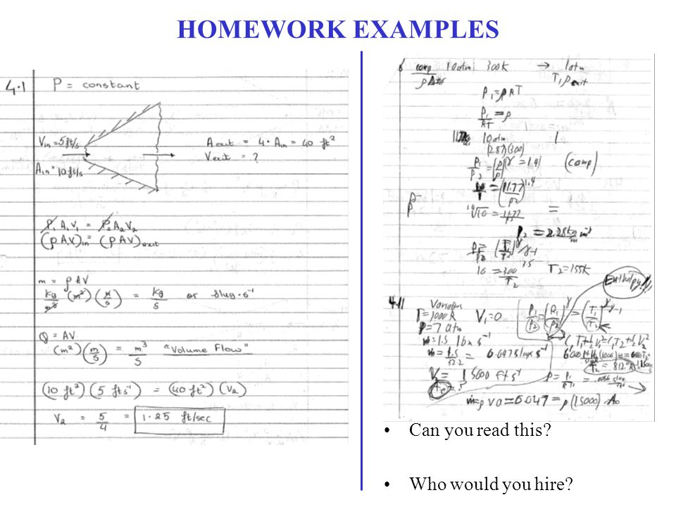 HOMEWORK EXAMPLES Can you read this Who would you hire