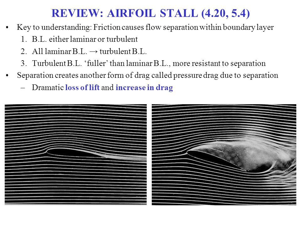REVIEW: AIRFOIL STALL (4.20, 5.4)