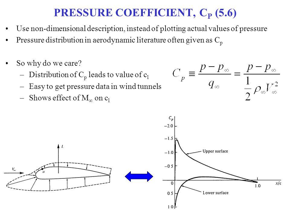 PRESSURE COEFFICIENT, CP (5.6)