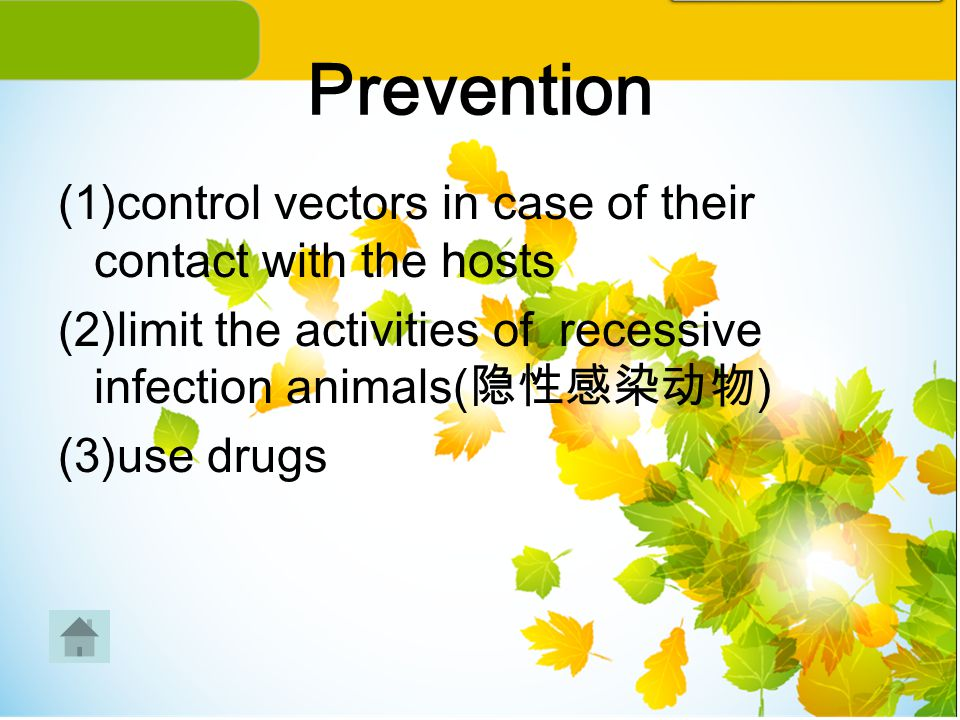 Prevention (1)control vectors in case of their contact with the hosts