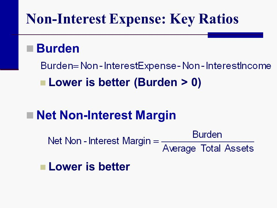 Non-Interest Expense: Key Ratios