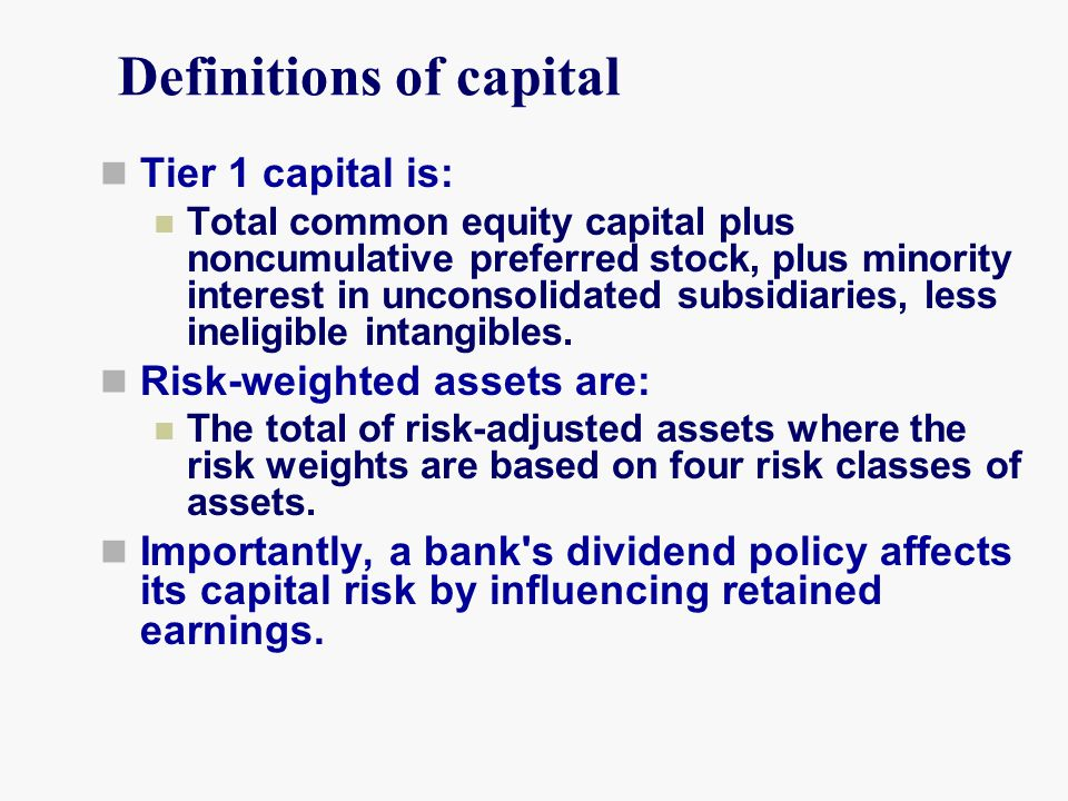 Definitions of capital