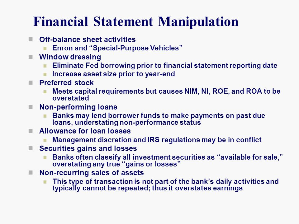 Financial Statement Manipulation