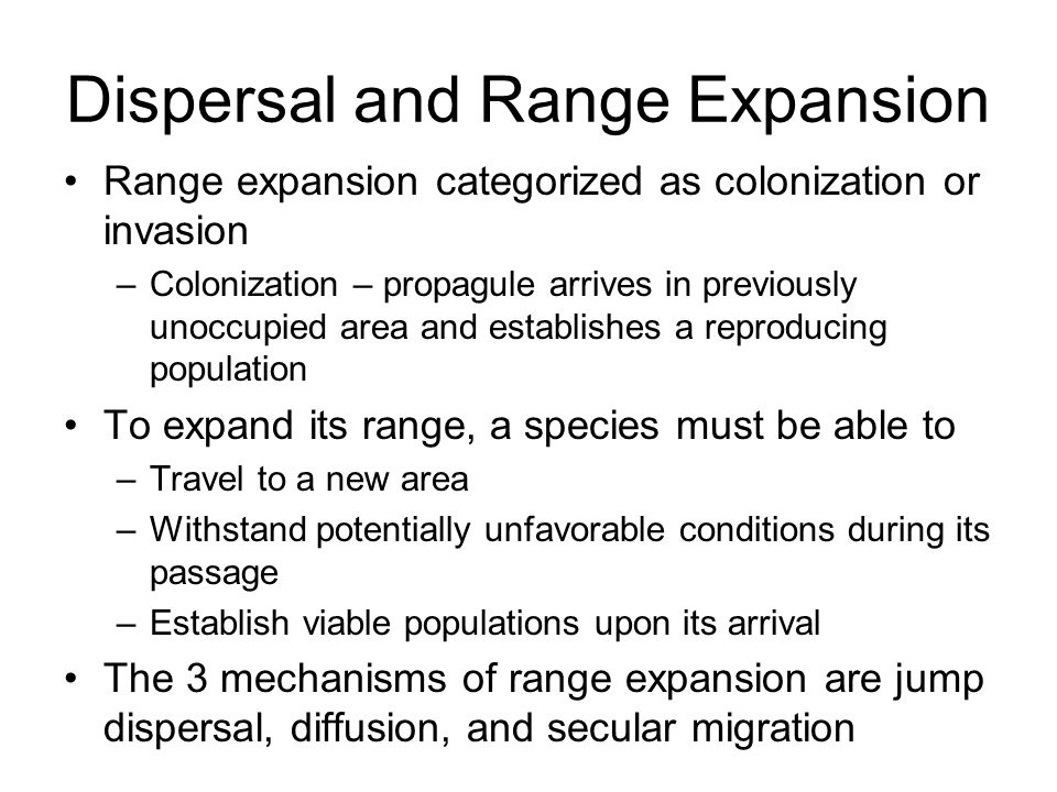 Dispersal and Range Expansion
