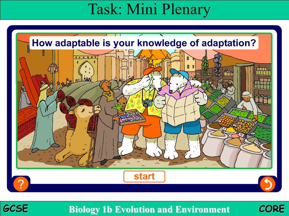 Multiple-choice quiz Task: Mini Plenary Teacher notes