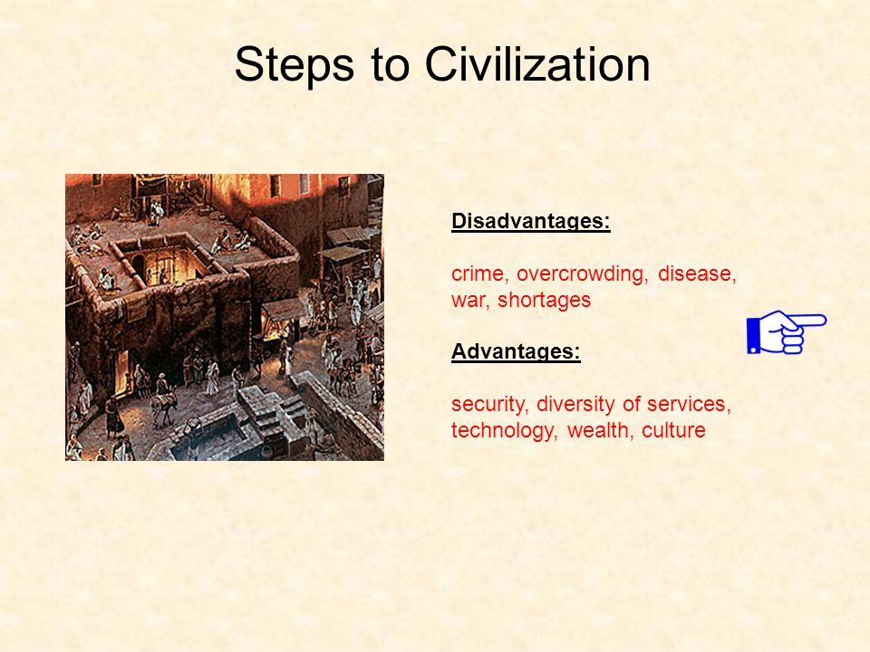 Steps to Civilization Disadvantages: