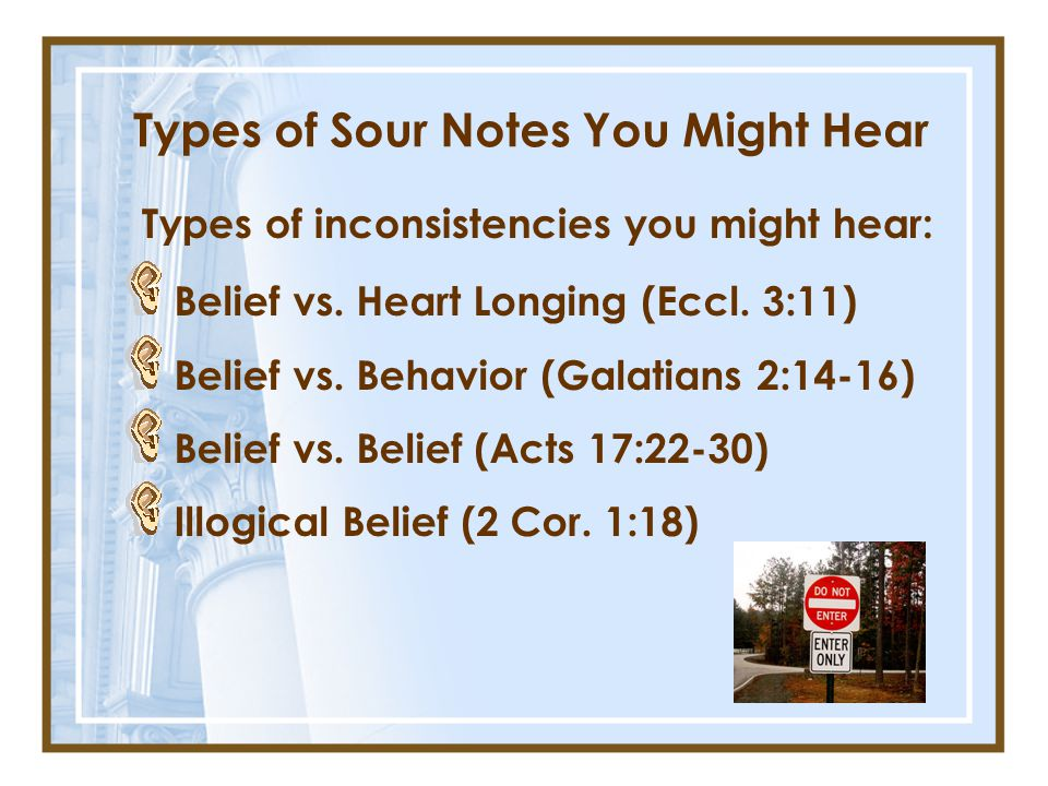 Types of Sour Notes You Might Hear
