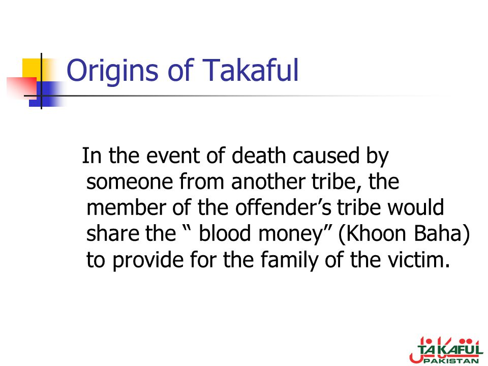 Origins of Takaful