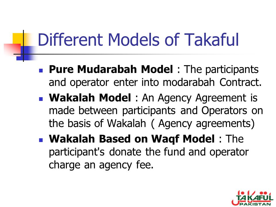 Different Models of Takaful