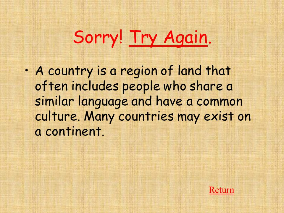 Sorry! Try Again.