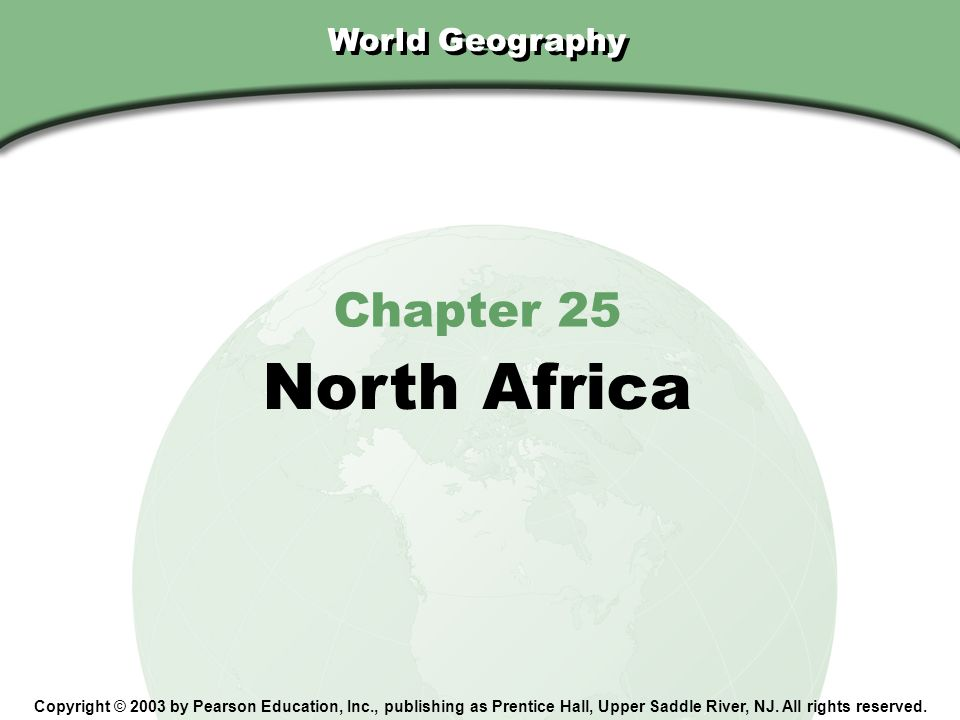 North Africa Chapter 25 World Geography