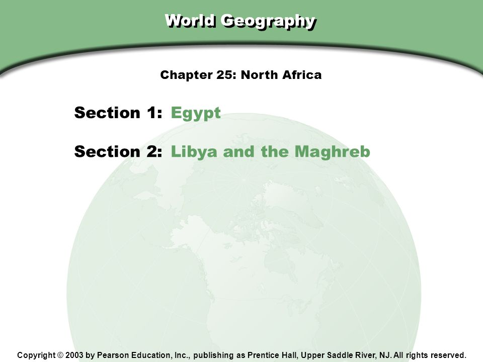 Section 2: Libya and the Maghreb