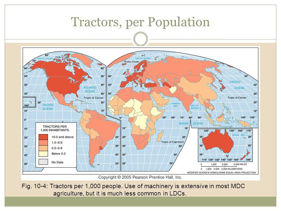 Tractors, per Population