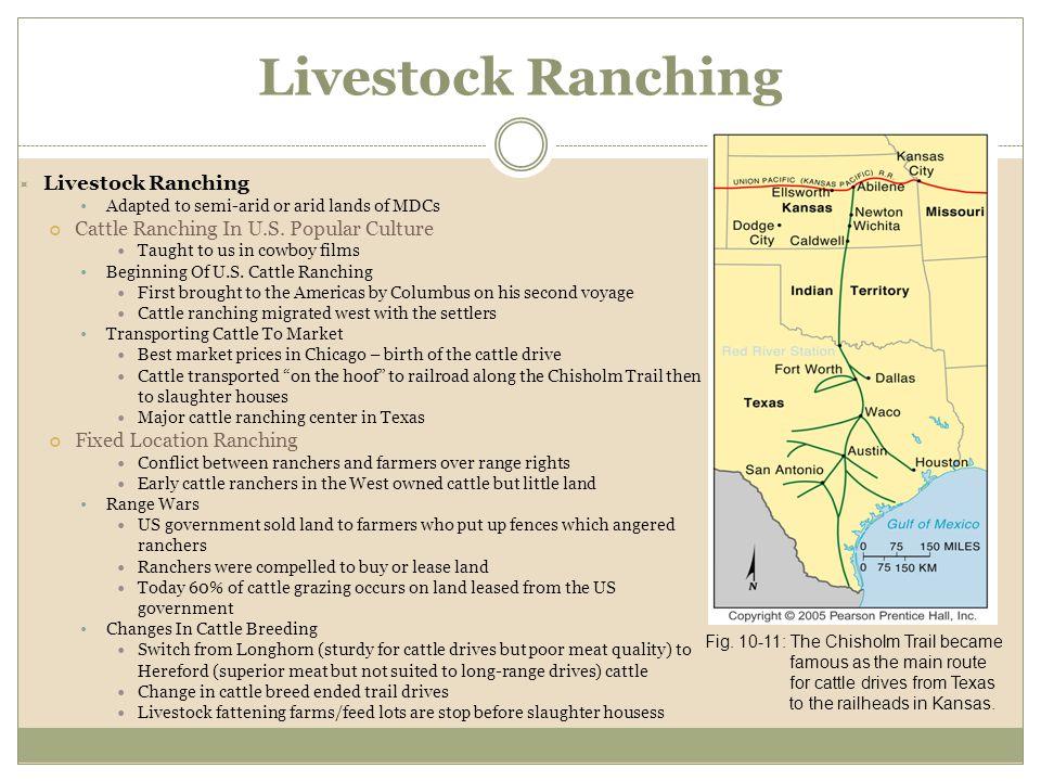 Livestock Ranching Livestock Ranching