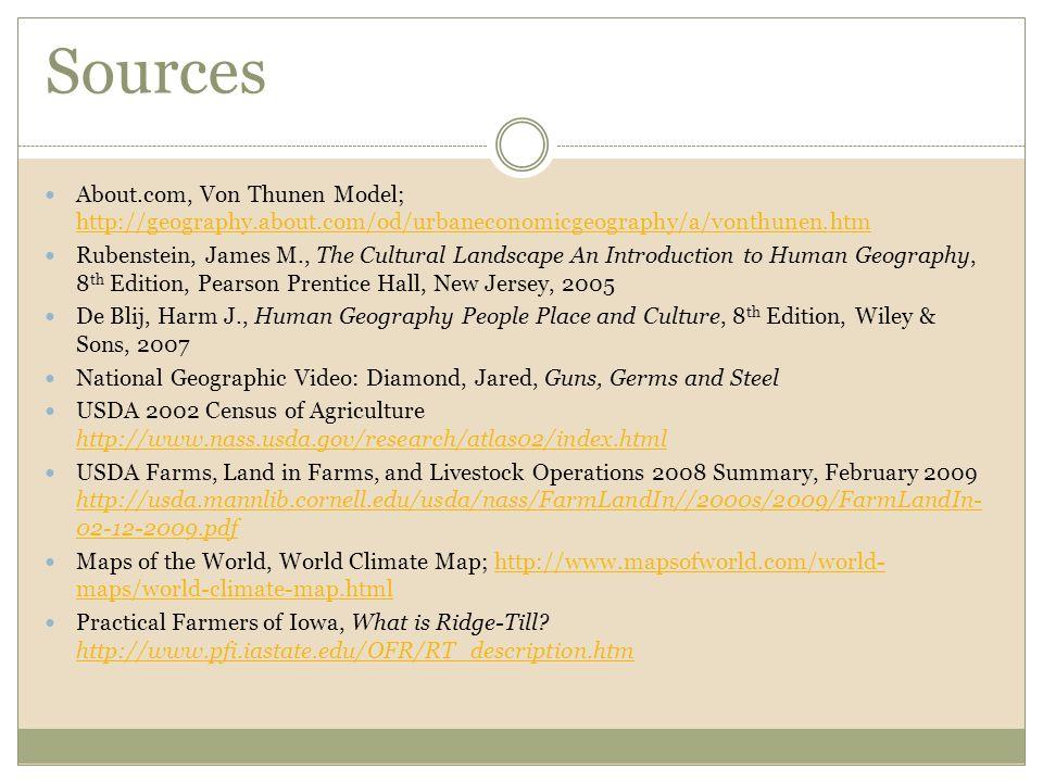 Sources About.com, Von Thunen Model; http://geography.about.com/od/urbaneconomicgeography/a/vonthunen.htm.