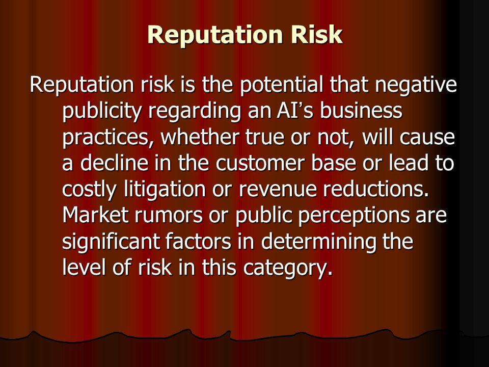Reputation Risk
