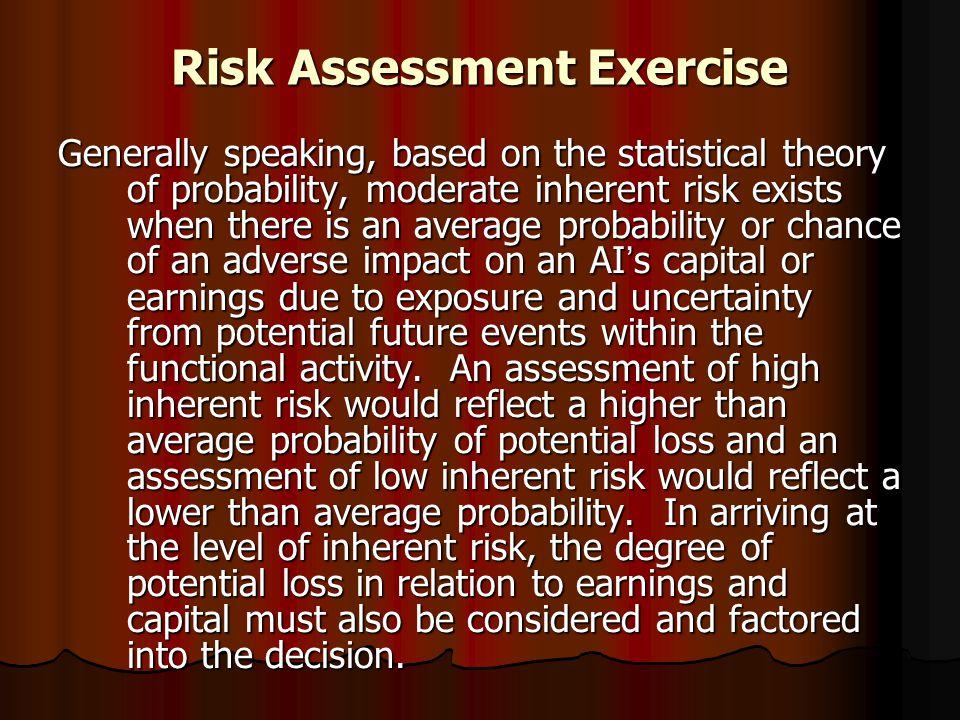 Risk Assessment Exercise