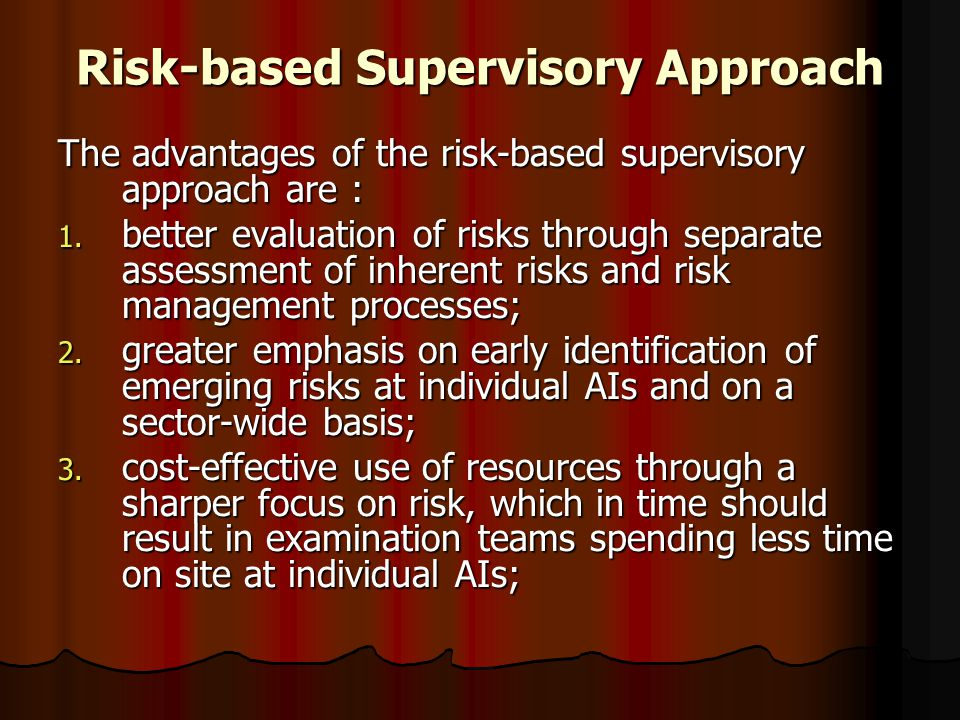 Risk-based Supervisory Approach