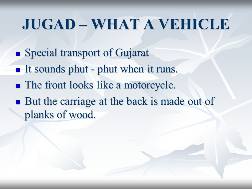 JUGAD – WHAT A VEHICLE Special transport of Gujarat
