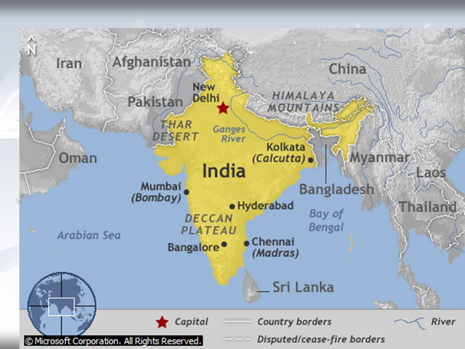 Map of India © Microsoft Corporation. All Rights Reserved.