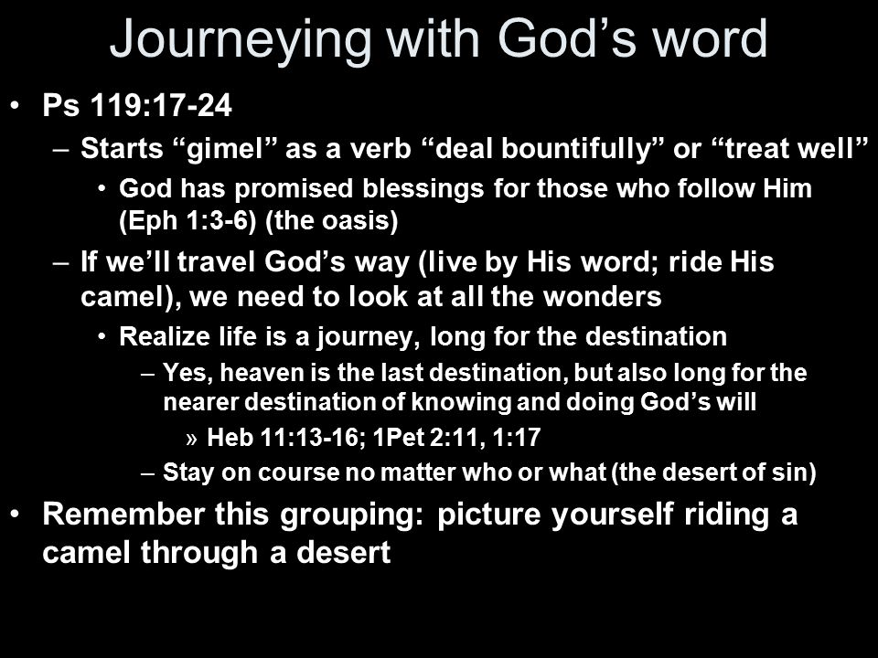 Journeying with God's word