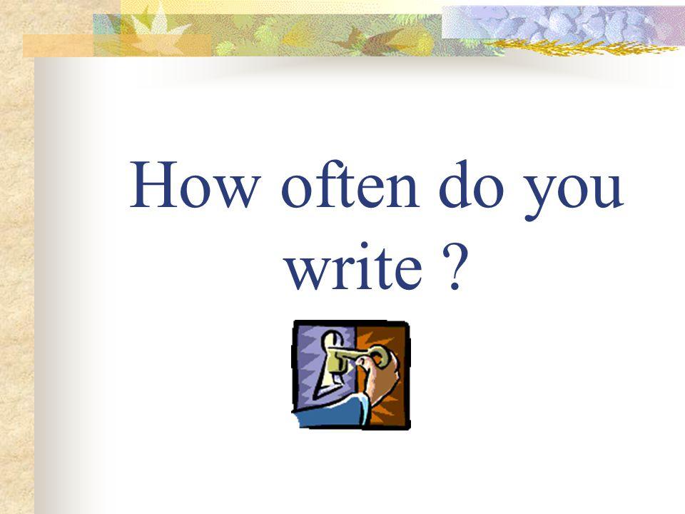 How often do you write