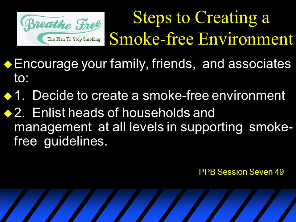Steps to Creating a Smoke-free Environment
