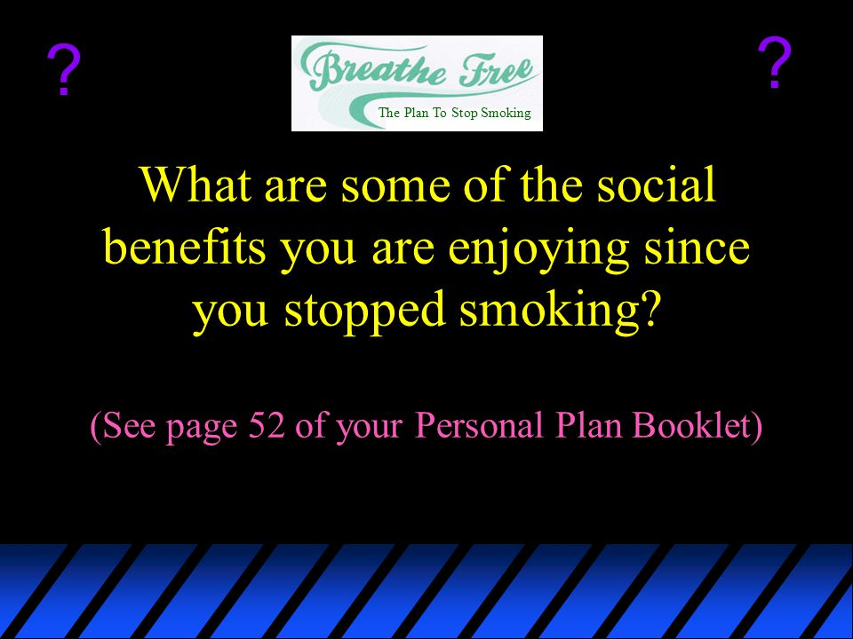 The Plan To Stop Smoking.