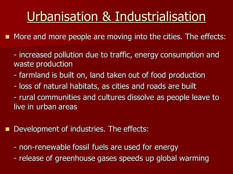 Urbanisation & Industrialisation