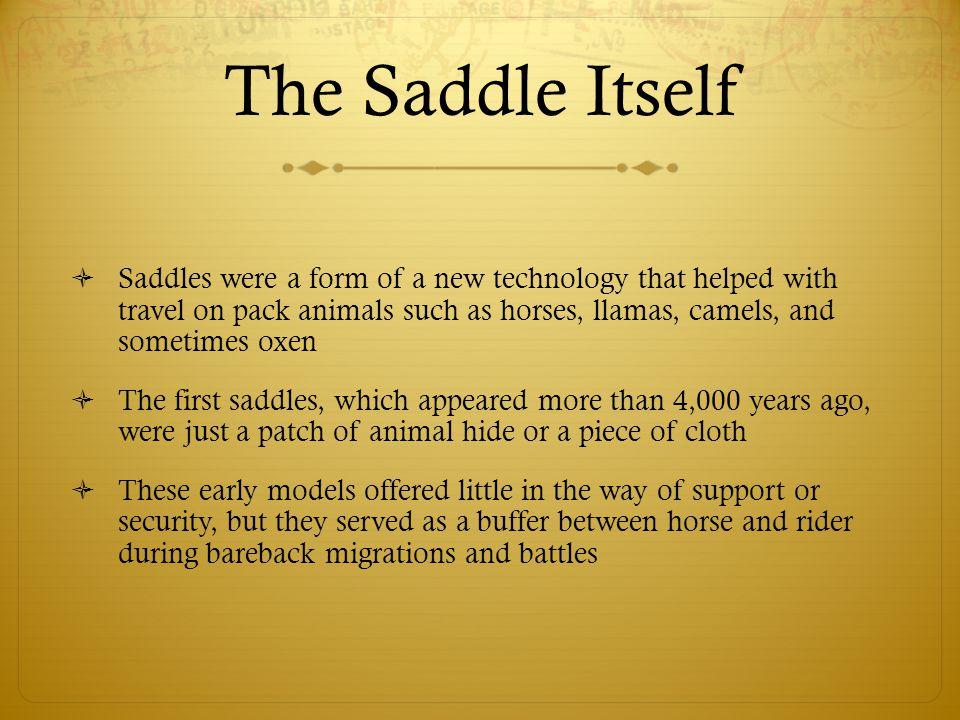 The Saddle Itself