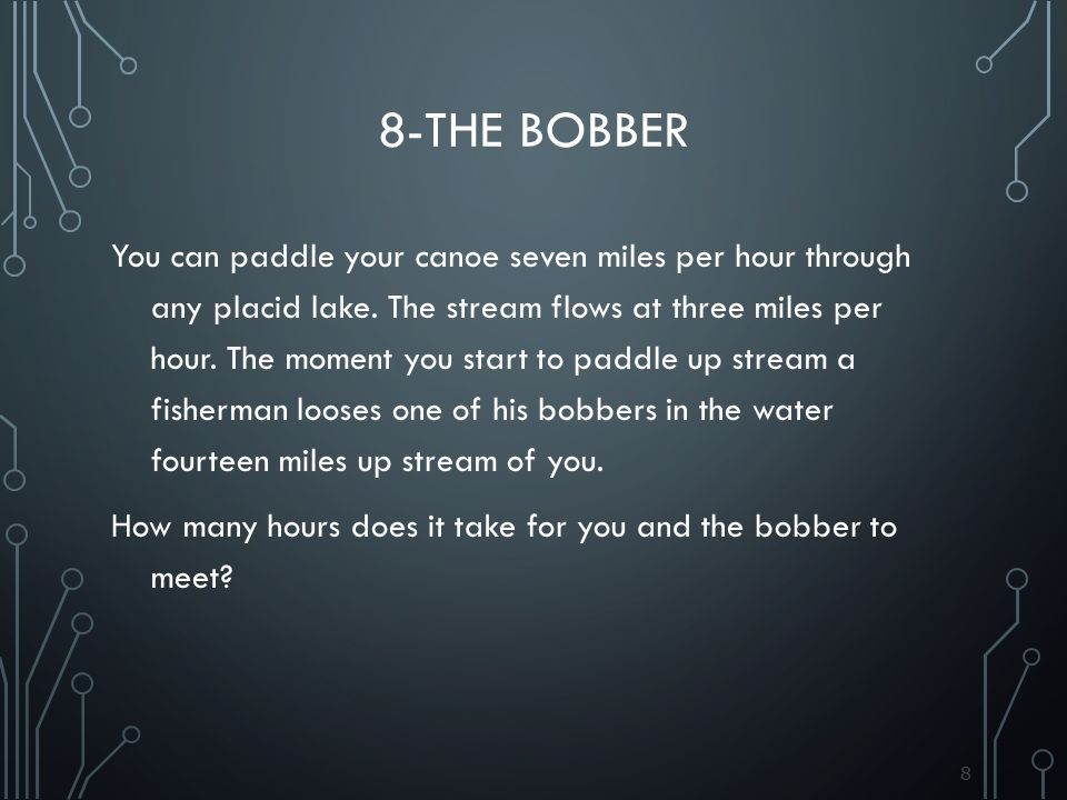 8-The bobber