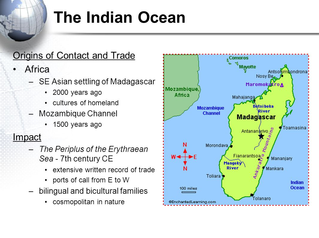The Indian Ocean Origins of Contact and Trade Africa Impact