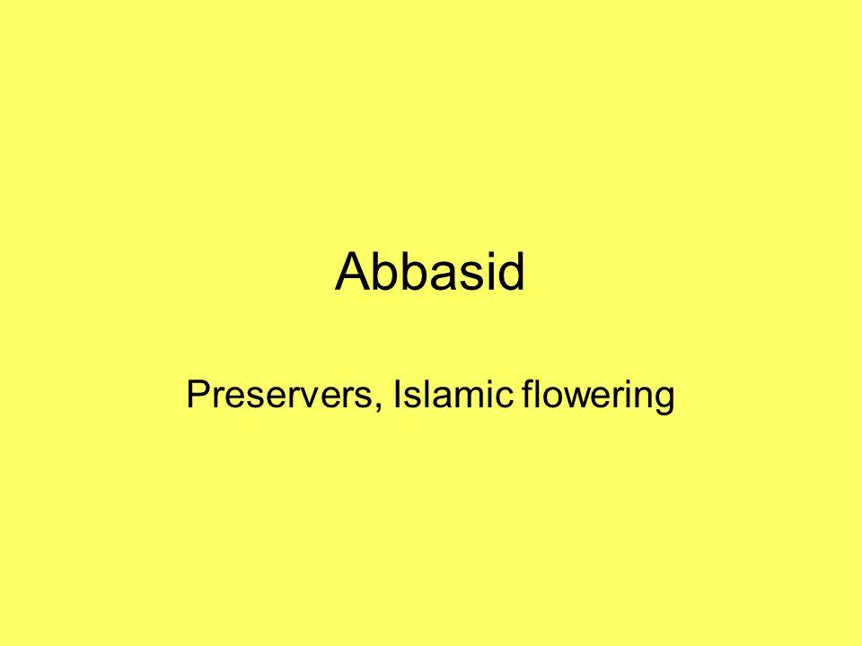 Preservers, Islamic flowering