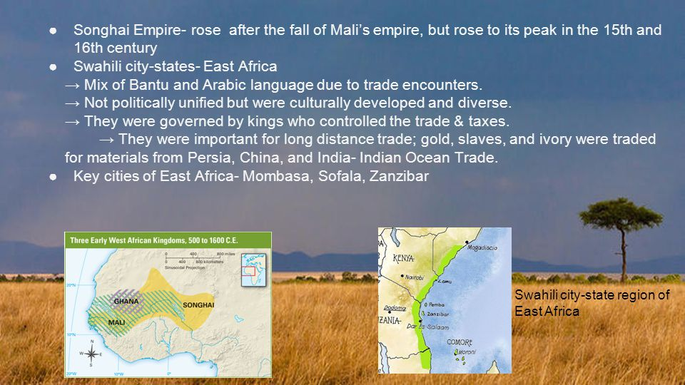 Swahili city-states- East Africa