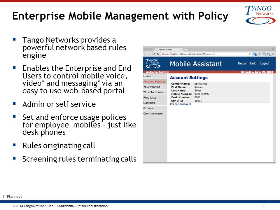 Enterprise Mobile Management with Policy