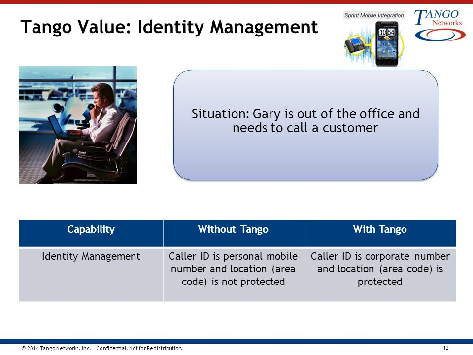 Tango Value: Identity Management