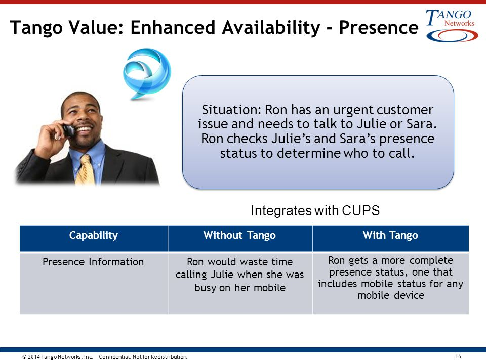 Tango Value: Enhanced Availability - Presence