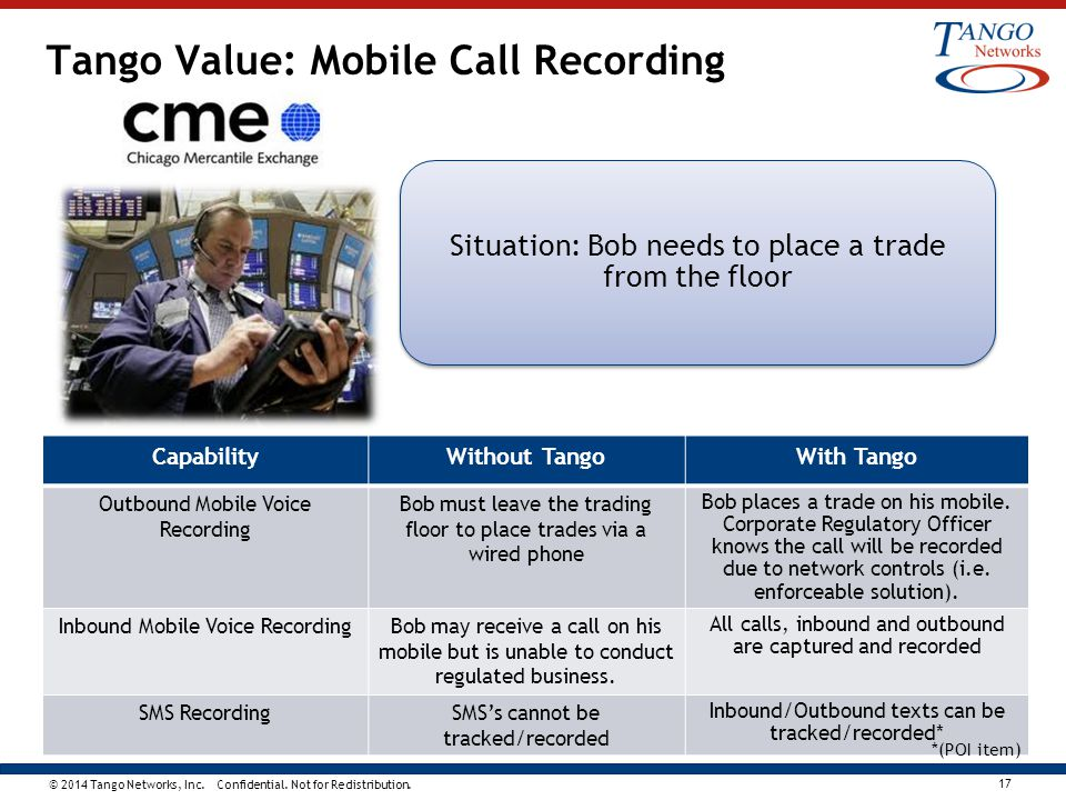 Tango Value: Mobile Call Recording