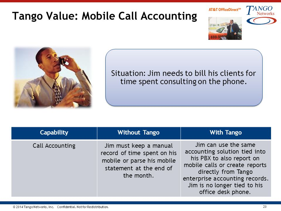 Tango Value: Mobile Call Accounting