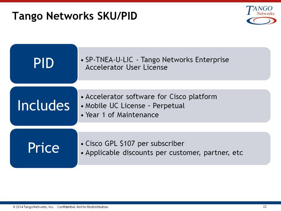 Tango Networks SKU/PID