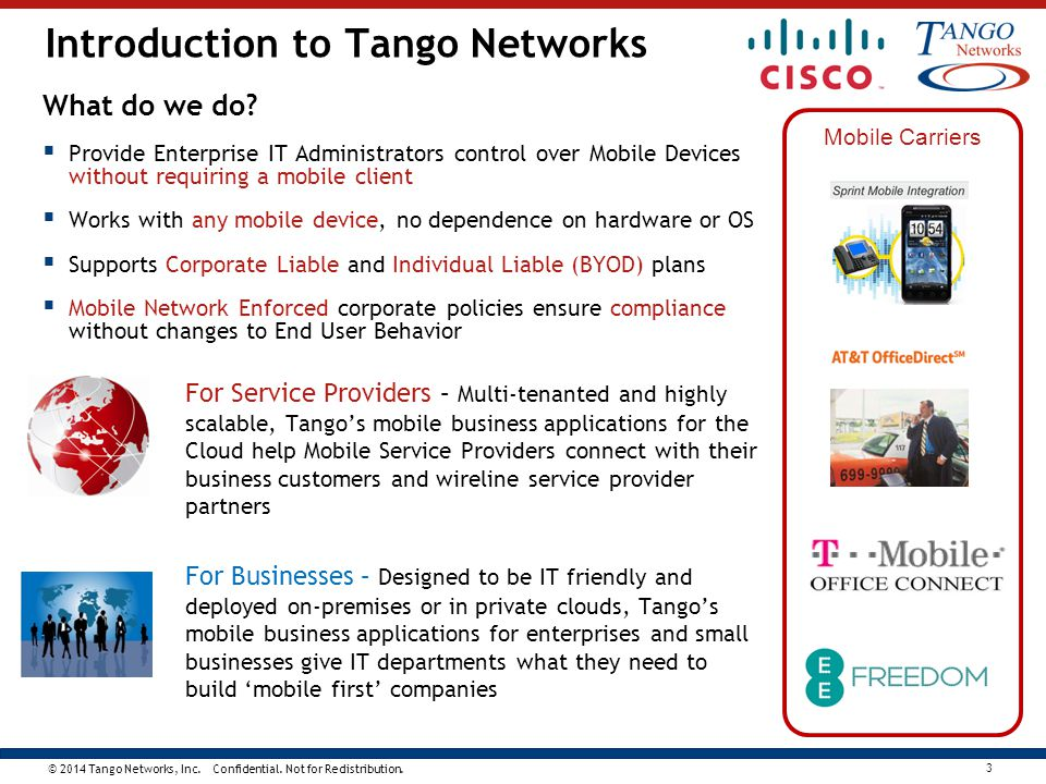 Introduction to Tango Networks