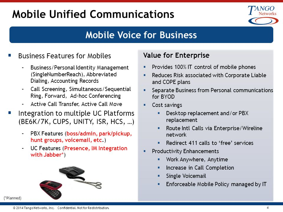 Mobile Unified Communications